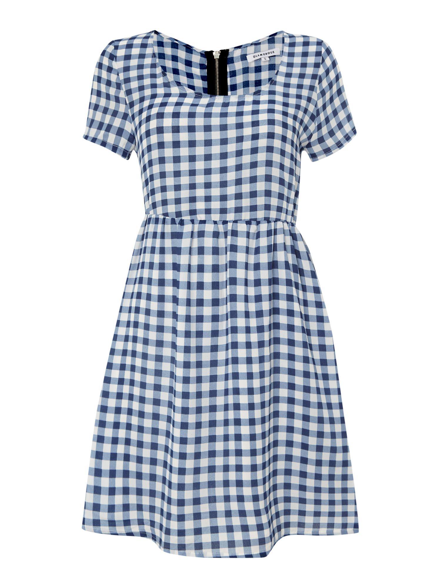 House of Fraser Glamorous Short Sleeved Gingham Swing Dress, $13; houseoffraser.co.uk     - ELLE.com