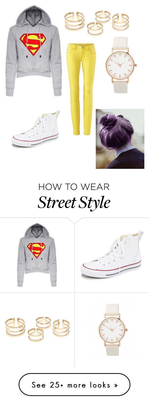 """Teenage Street Style LA"" by victoria1355 on Polyvore featuring Converse, women's clothing, women, female, woman, misses and juniors"