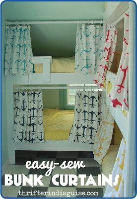 easy sew diy bunk bed curtains diy