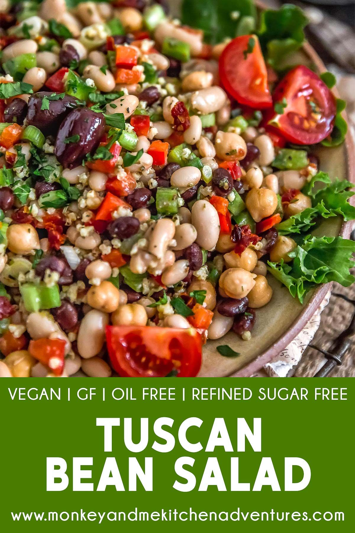 Tuscan Bean Salad Monkey And Me Kitchen Adventures Recipe Healthy Recipes Bean Salad Salad Recipes