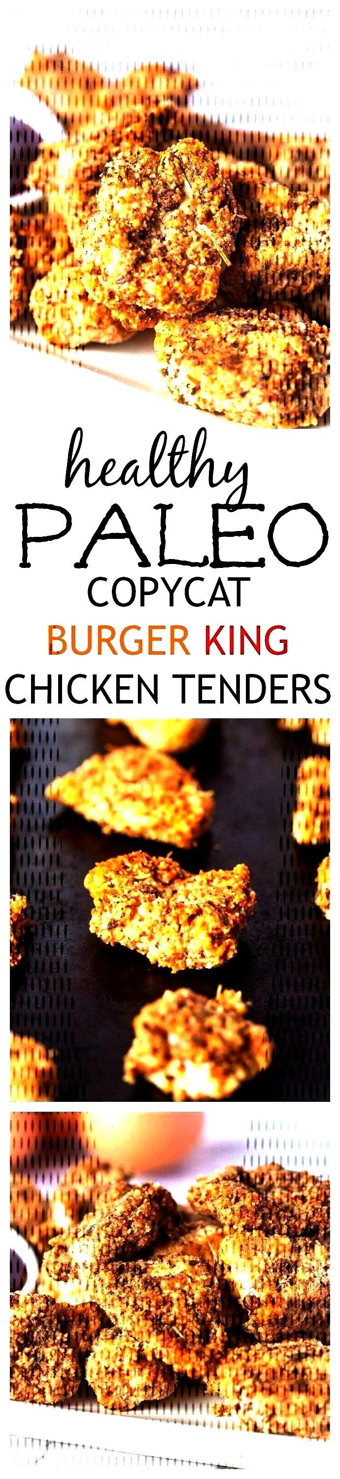 {PALEO FRIENDLY} Burger King Chicken Tenders- A Paleo twist on Burger King's infamous chickCopycat
