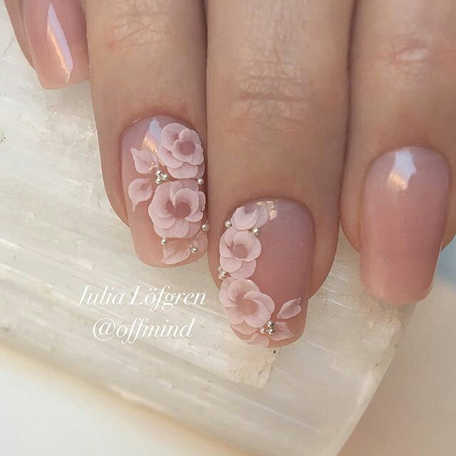 Would Love On Stiletto Floral Nails Nail Art Wedding Sunflower