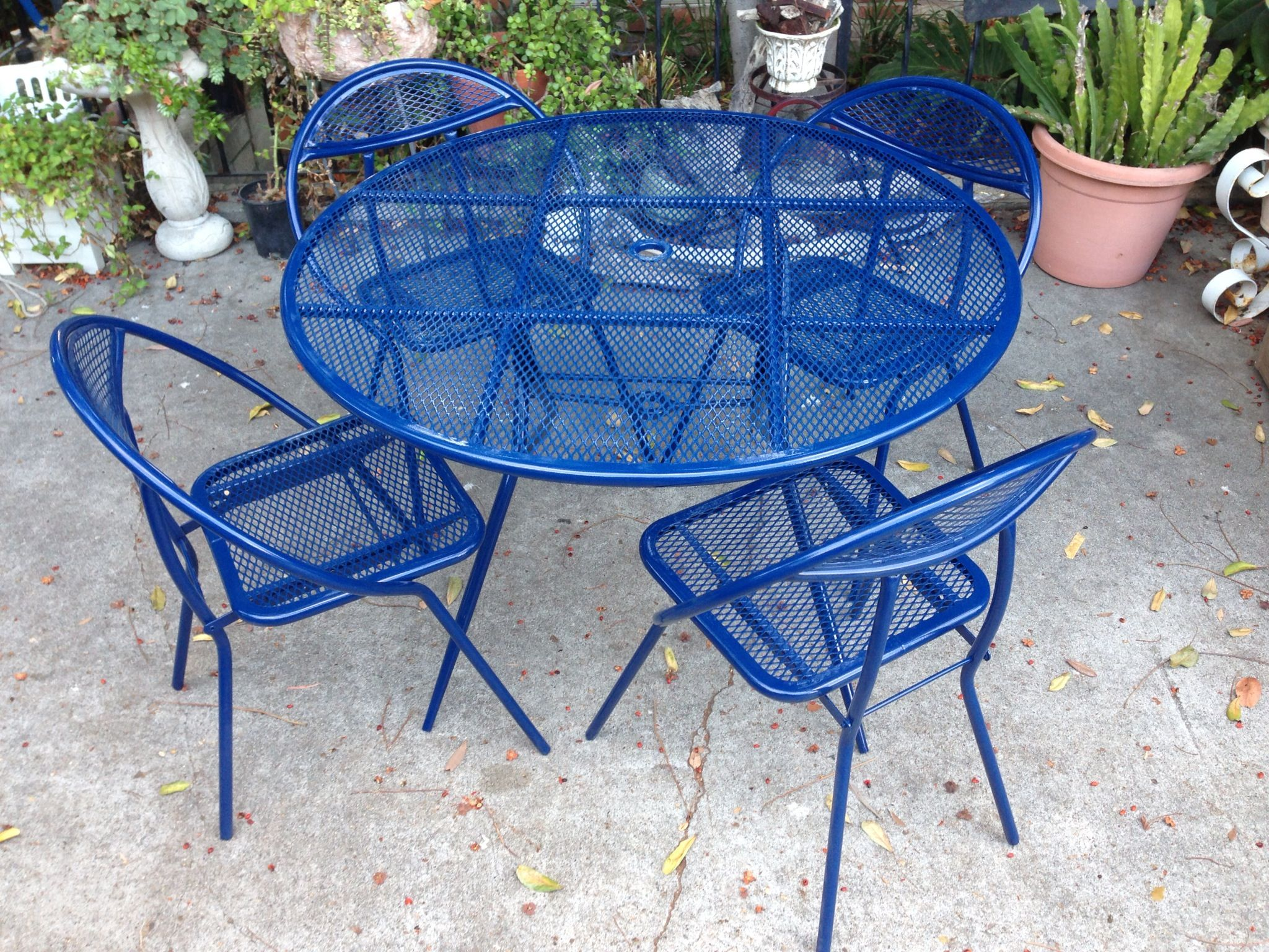 Mid century powder coated patio furniture