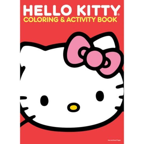 Hello Kitty Coloring Activity Book Party City Hello Kitty Coloring Kitty Coloring Hello Kitty Party Supplies