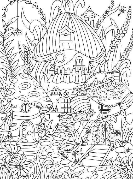 Amazon Hidden Garden An Adult Coloring Book With Secret Forest