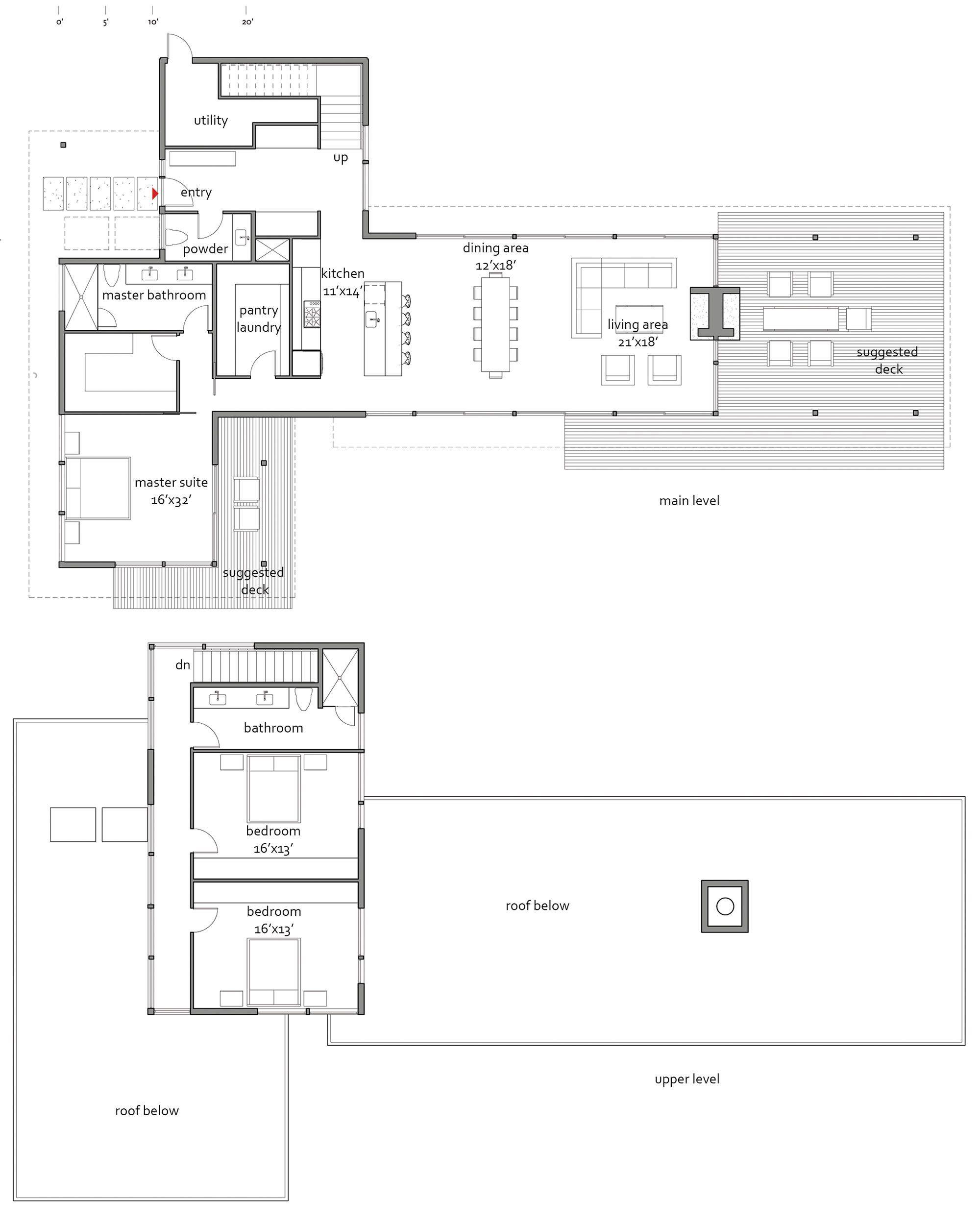 marmol radziner 2809 floor plan design for lindal cedar homes - Lindal Cedar Home Floor Plans