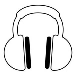 Headphones Coloring Page Headphones Drawing Peace Gesture How To Relieve Stress
