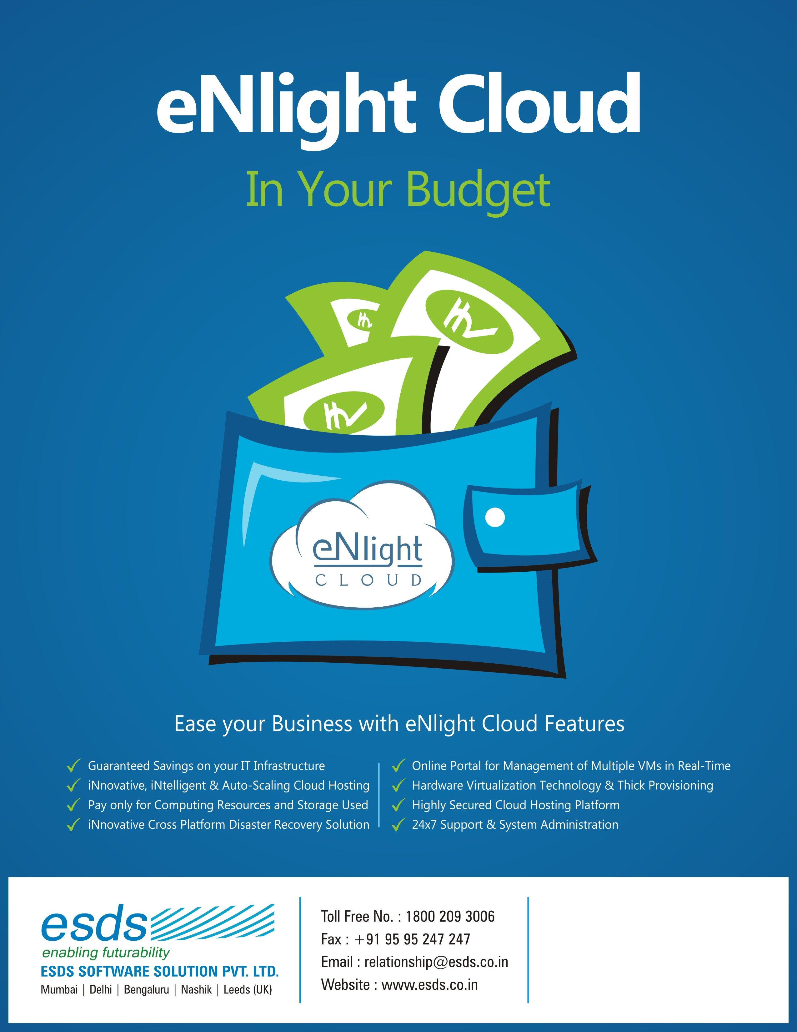 CreativeFriday #Optimize your #ITBudget with ESDS eNlight #Cloud