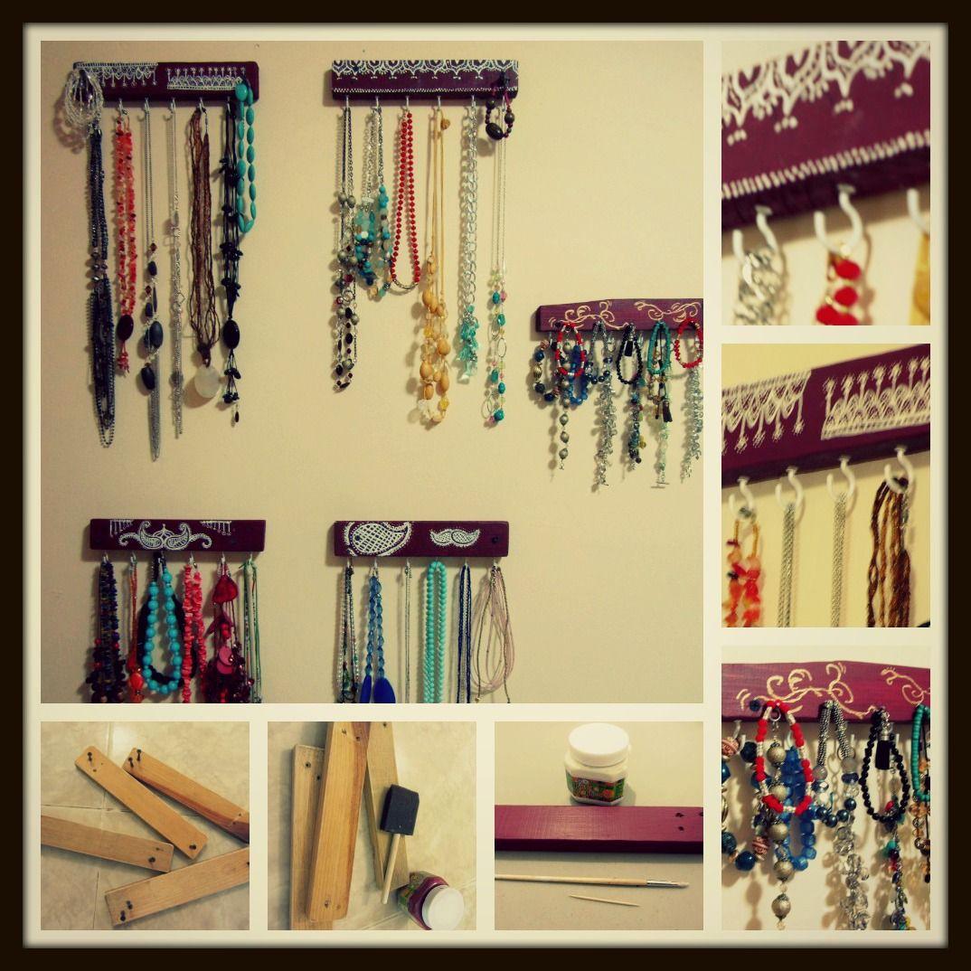 Colgador para collares y pulseras eliza s handcrafts pinterest - Perchas pared originales ...