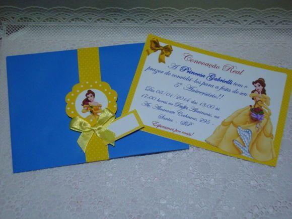 faire part la belle et la b te bleu et jaune a faire soi m me invitation anniversaire la. Black Bedroom Furniture Sets. Home Design Ideas