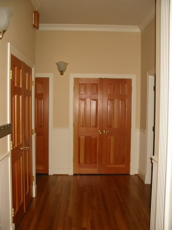How our interior doors would look with trim painted white for How to paint wood windows interior