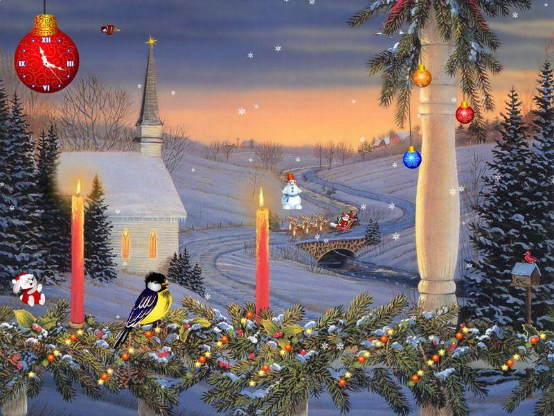 free animated christmas screensavers christmas screensaver christmas candles fullscreensaverscom - Free Animated Christmas Screensavers