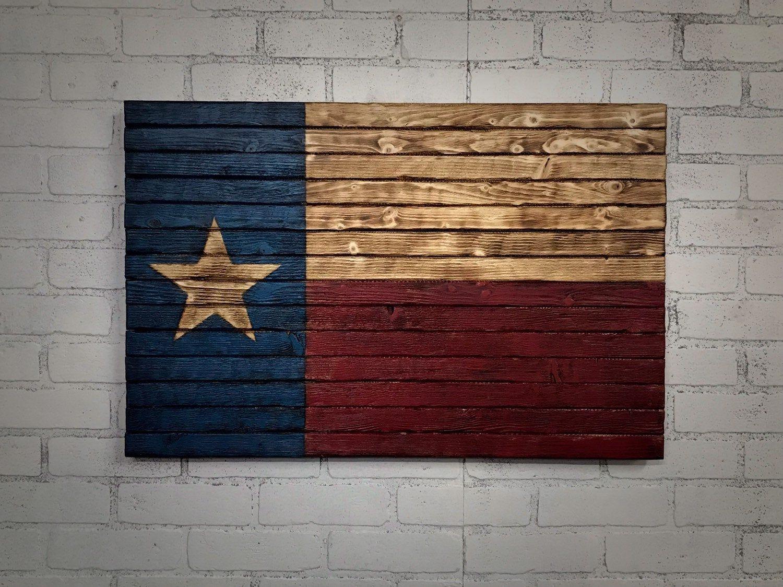 Rustic Texas Flag 5th Anniversary Wood Flag Man Cave Handmade Texas Flag Texas Decor Rustic Home Decor Gi American Flag Wood Wood Flag Rustic Texas Flag