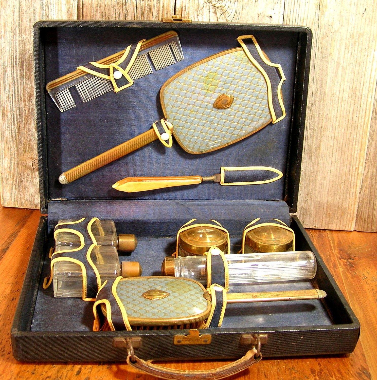 vintage Travel Vanity Case