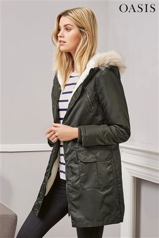 c8b5d1fd114c Buy Oasis Khaki Diana Parka from the Next UK online shop | Fashion ...
