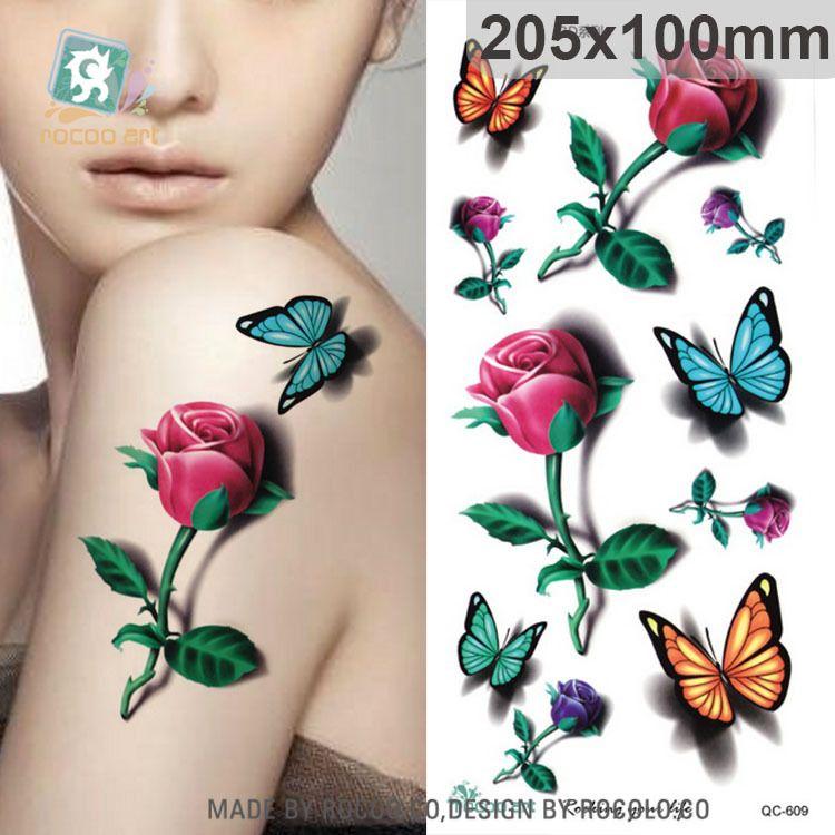 Waterproof font b tattoo b font stickers custom power font b flow b font 3d three jpg 750x750
