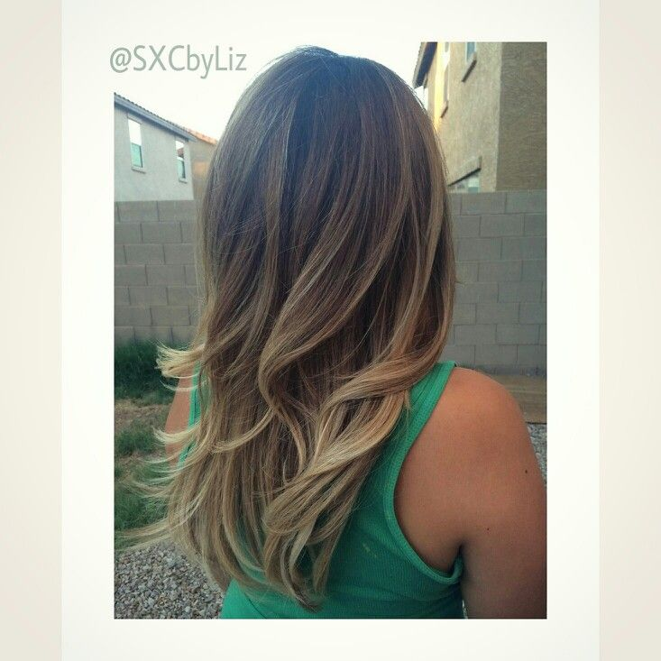 Tips On Blending Great Colors With Beige: Beautifully Blended Balayage Ombre. Beige Blonde. Cool