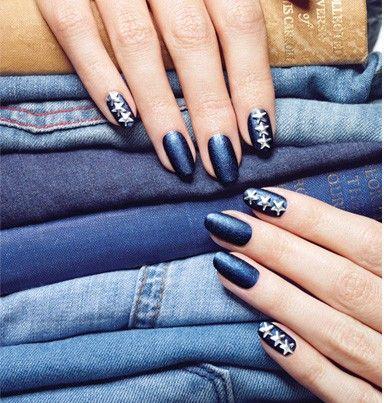 Denim Nails Nails Pinterest Trendy Jeans Nail Nail And Mani Pedi