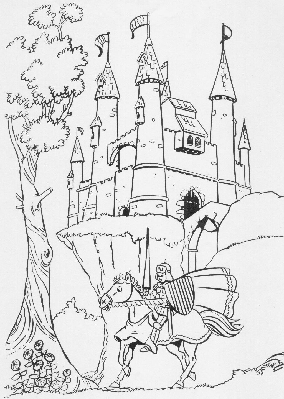 kleurplaten kasteel en ridders