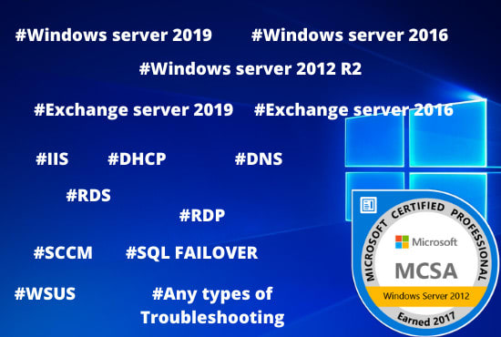 Configure and troubleshoot windows server in 2020