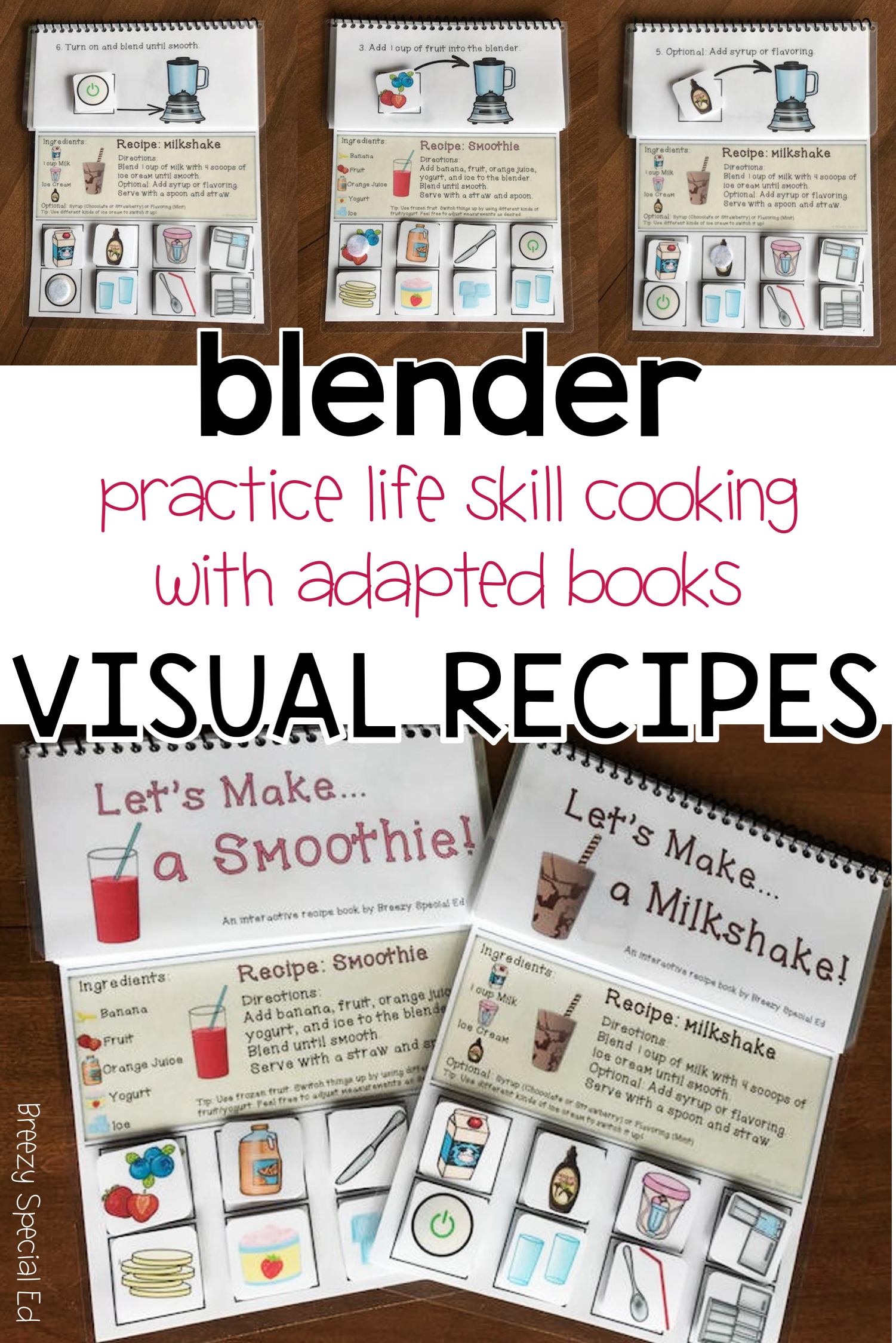 Visual Recipes For Milkshakes And Smoothies Cooking
