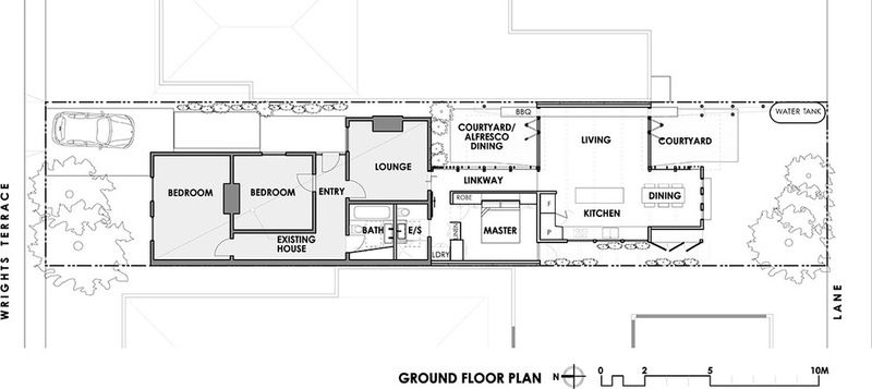 Houzz Tour Convertible Courtyards Change The Game In Australia Courtyard House House Floor Plans Floor Plans