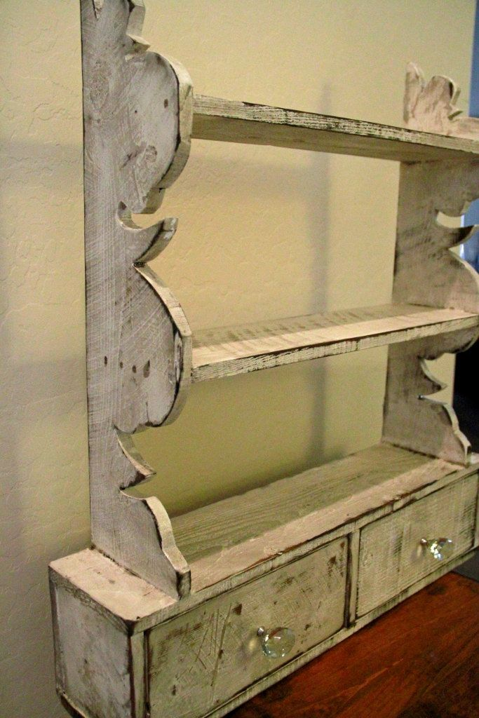 French Country Wall Shelf Cottage Chic Kitchen Victorian Antique Style By Lynxcreekdesigns On Etsy