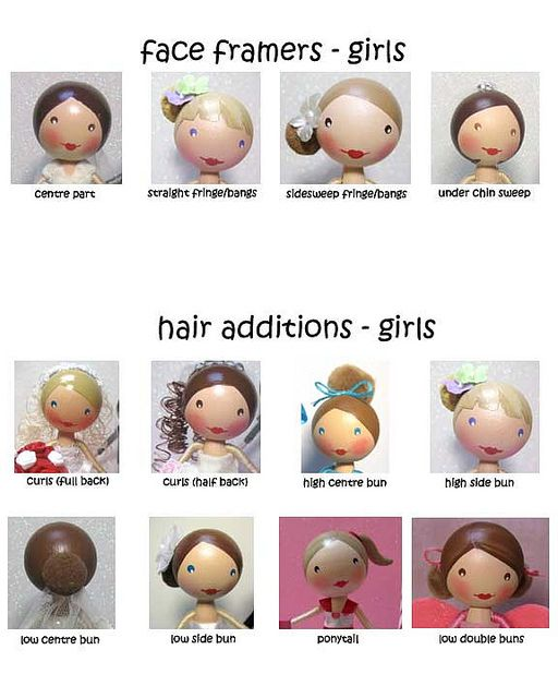 how to make peg doll hair