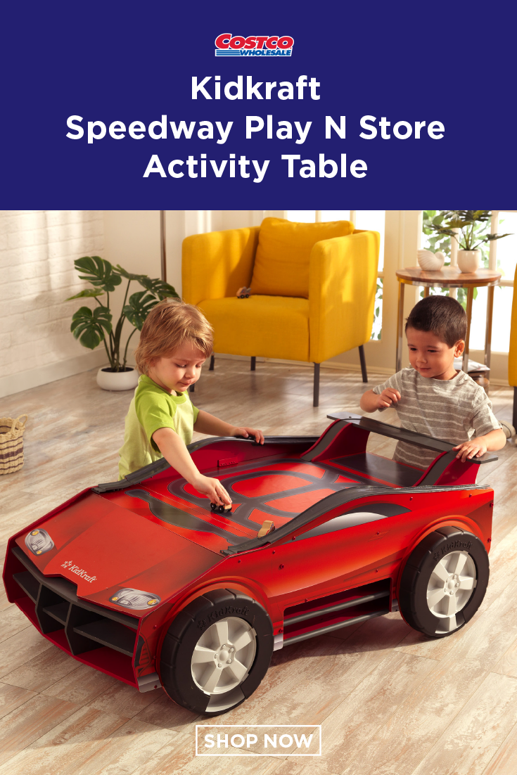 Kidkraft Speedway Play N Store Activity Table In 2019 Costco