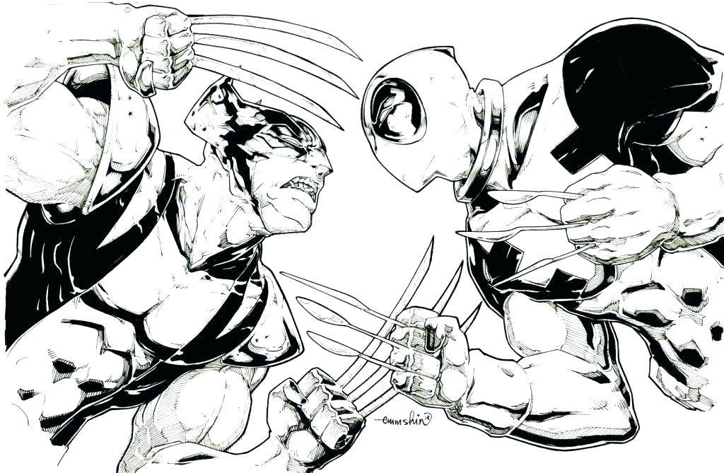 Coloring Rocks Wolverine Comic Deadpool Cute Deadpool