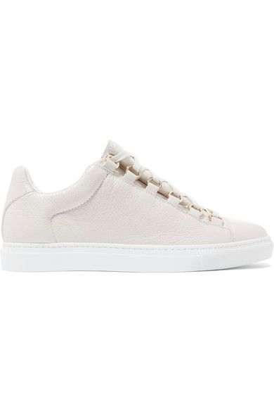 6d3a8846f2c2 Balenciaga - Arena Crinkled-leather Sneakers - Off-white