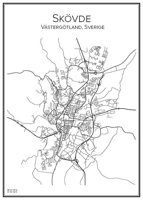 skøvde sverige kart Skövde | City maps, City and Cartography skøvde sverige kart