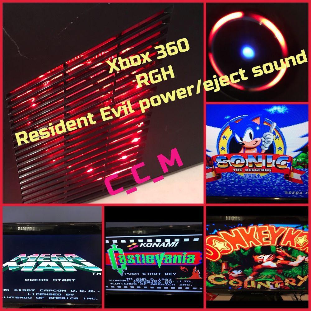Dÿ Xbox 360 Slim Rgh Trinity Custom Resident Evil Power Eject Sounds 5 00 Romsdÿ Ebay Xbox 360 Xbox Resident Evil