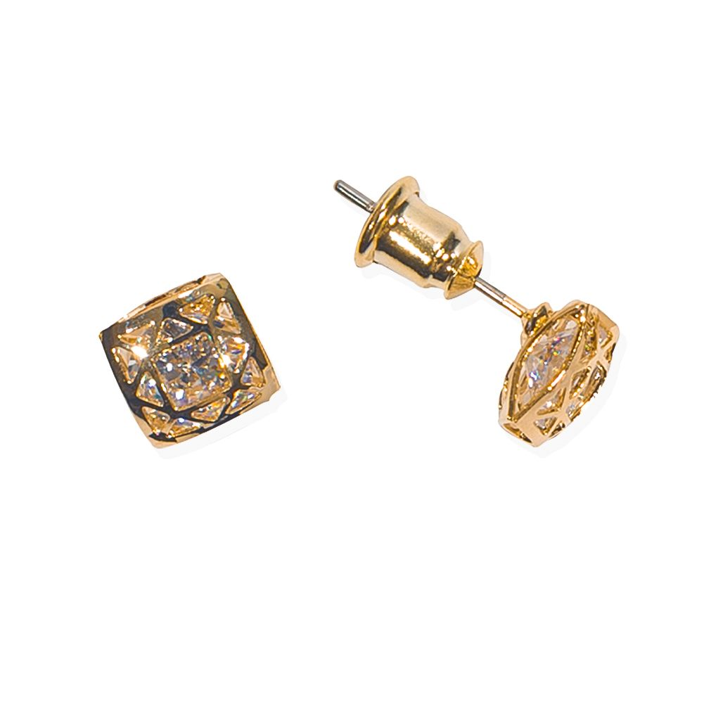 products diamond banana gold top antiques earrings faux tourmaline vintage stud