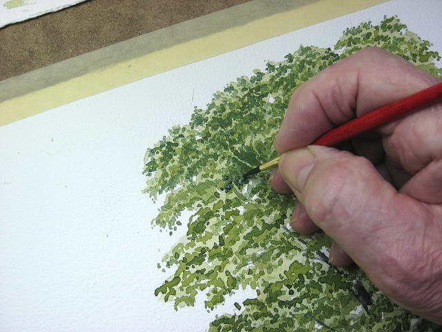 Einen baum malen mit aquarellfarben john fisher art - Baum malen ...