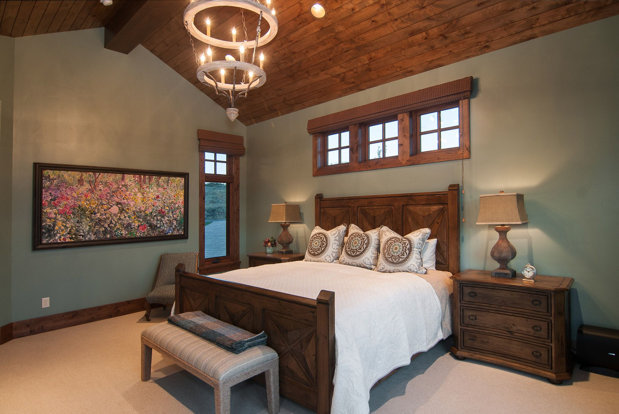 Master bedroom bedroom ceiling decor  Master Bedroom Home built by Cameo Homes Inc in Utah  Bedrooms