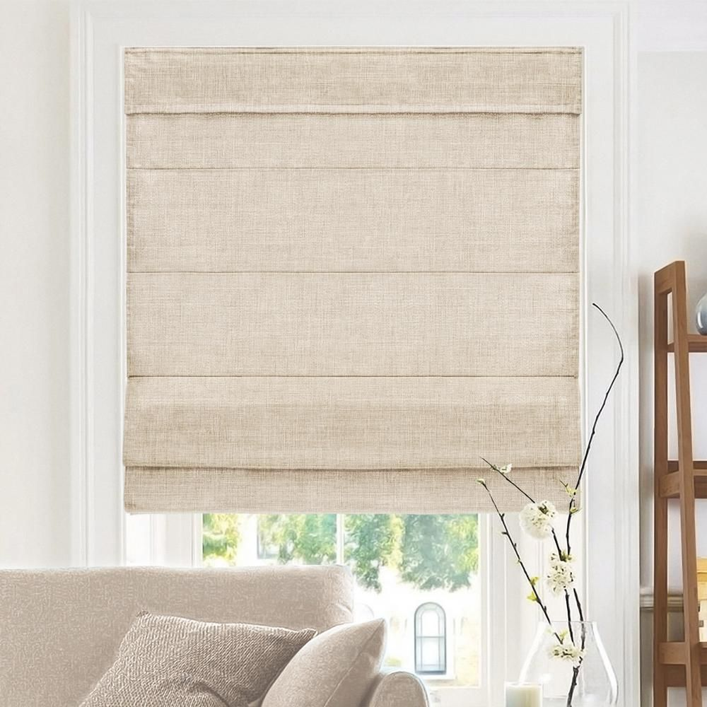 Chicology Belgian Flax Cordless Light Filtering Privacy Polyester