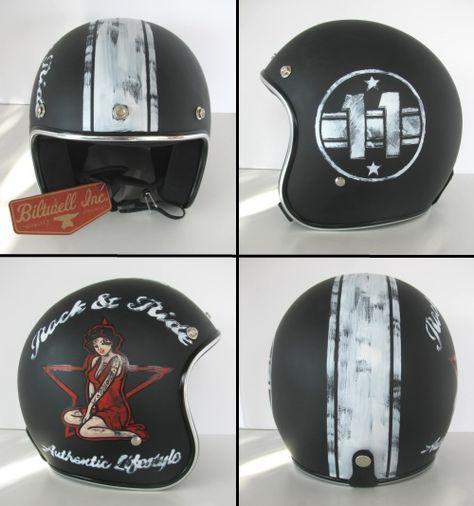 Distressed Lids Old School Helmets Custom Paint Vintage Helmet Custom Motorcycle Helmets Motorcycle Helmet Design