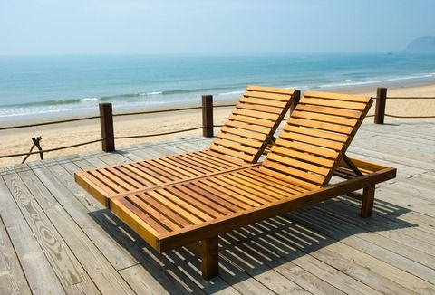 Beach Lounge Chairs Wooden Aluminum