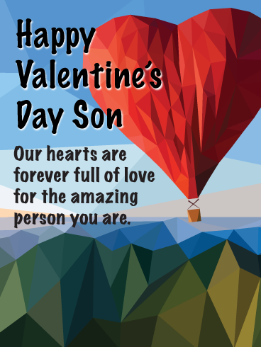 Full Of Love Happy Valentine S Day For Son Birthday Greeting Cards By Davia Happy Valentines Day Son Happy Valentines Day Wishes Happy Valentine