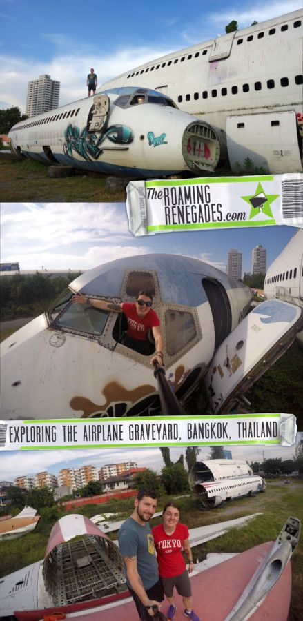 Bangkok airplane graveyard urbex is a weird, eery and wonderful way to explore off the beaten path Bangkok...also hear how we got threatened with syringe!