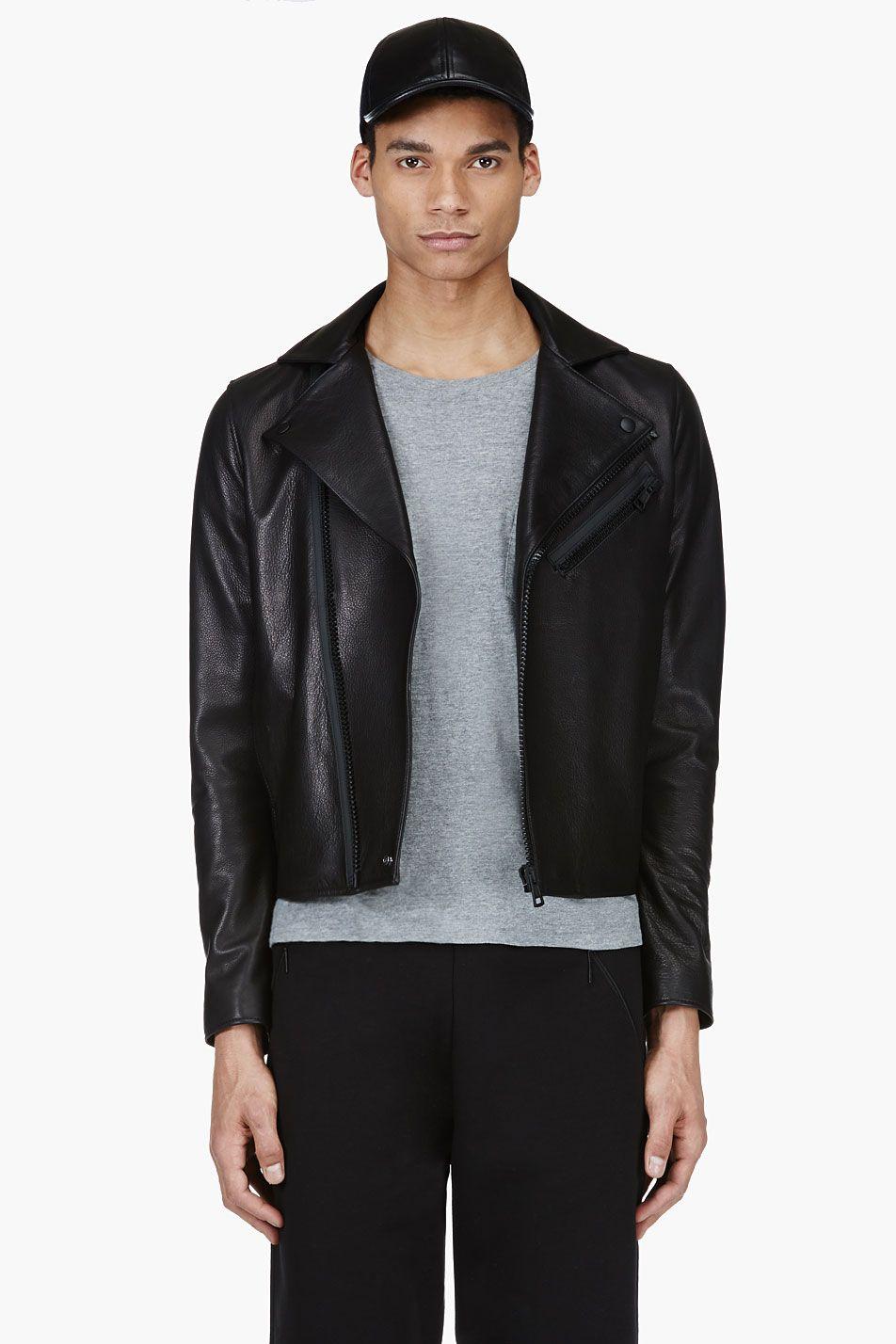 Acne Studios Black Leather Biker Jacket Black Leather Biker Jacket Stylish Jackets Leather Biker Jacket