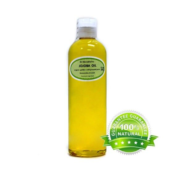 12 oz Jojoba oil 100% Pure Organic Unrefined Golden Cold Pressed Virgin #jojobaoil