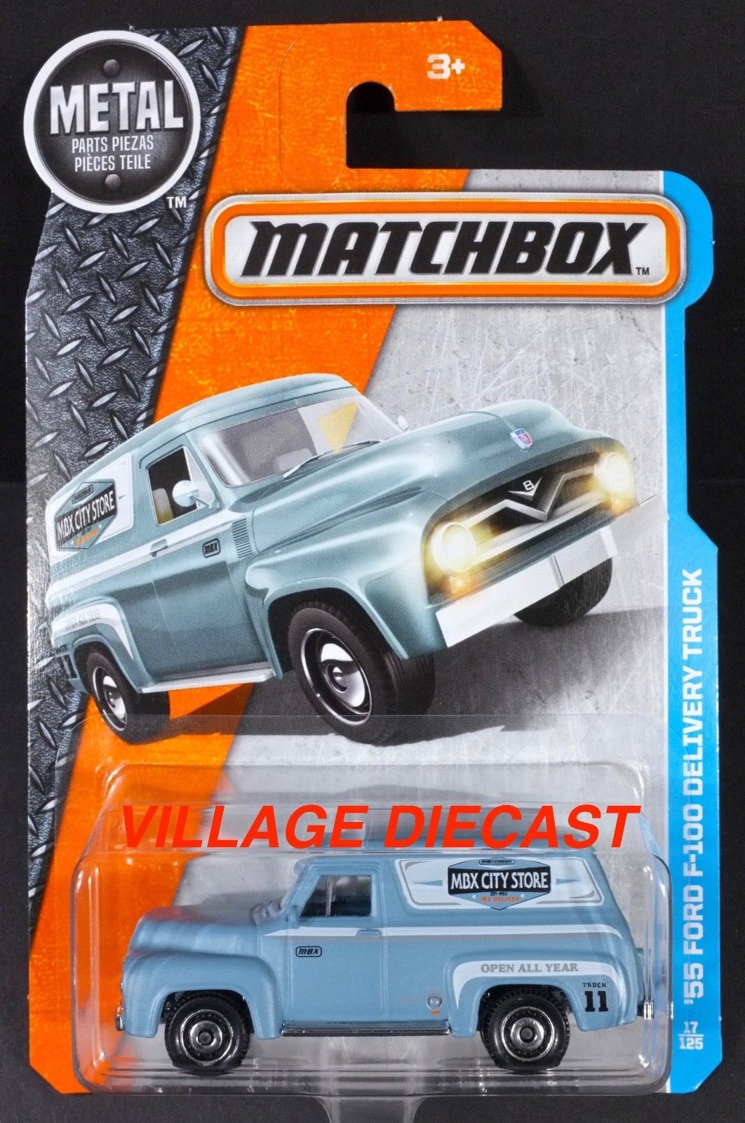 $1.99 - 2017 Matchbox 17 \'55 Ford F-100 Delivery Truck Glacier Blue ...