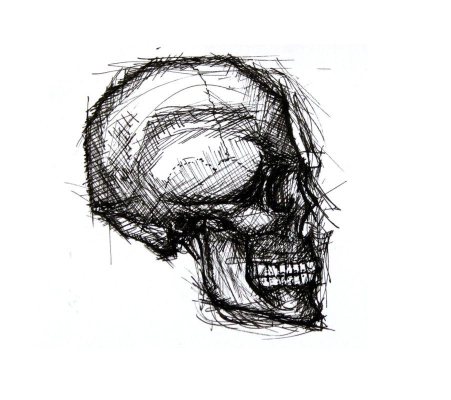 Cráneo lateral - Tinta sobre papel 14,5x19cm 2010