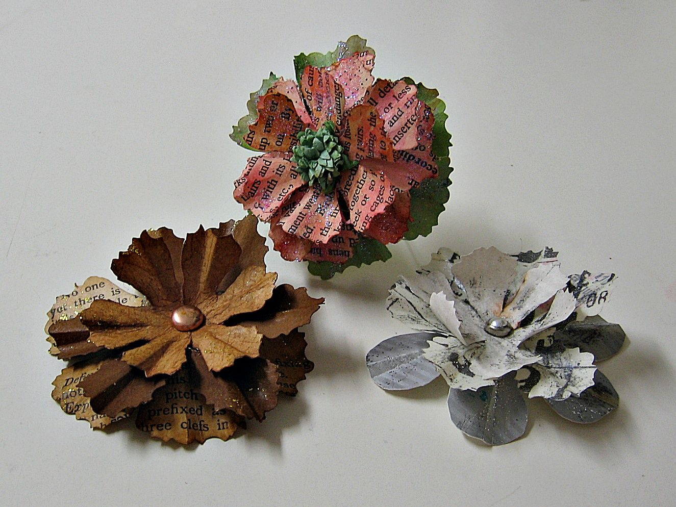 3-D Prima Inspired hand made flowers (swap) - Scrapbook.com