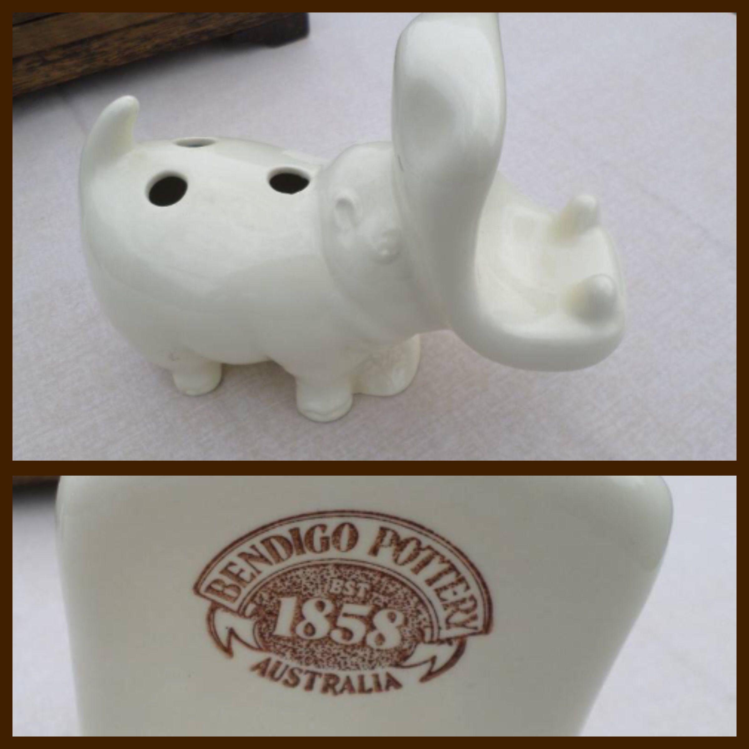Bendigo Pottery Hippopotamus Toothbrush Holder (With