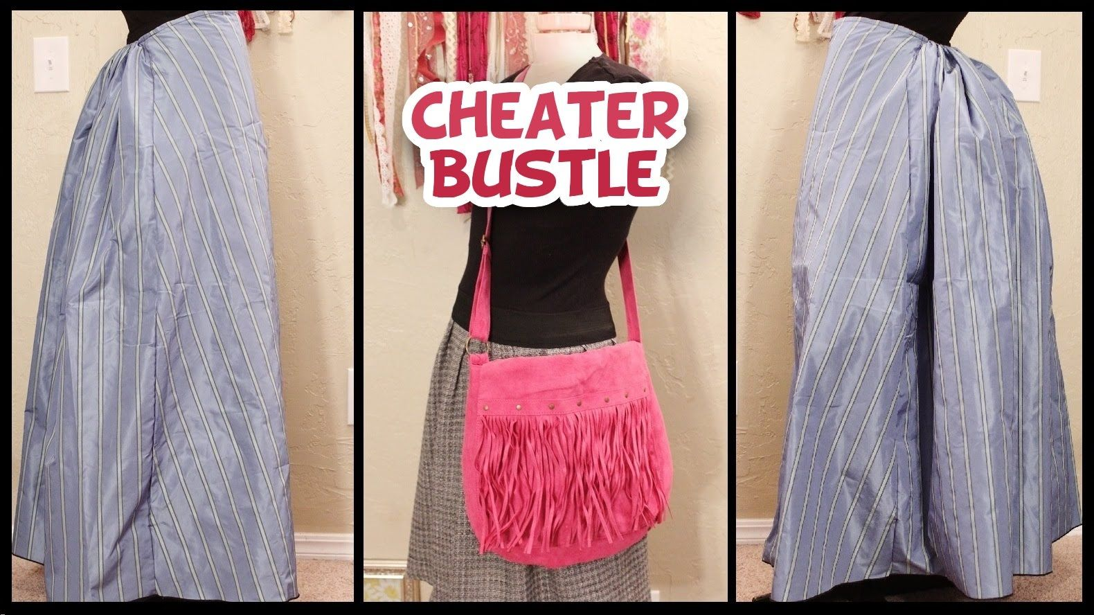 Diy No Sew Cheater Bustle Very Easy Whitney Sews Steampunk Bustle Skirt Diy Skirt Steampunk Diy Costume