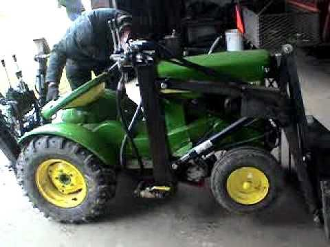 John Deere 110 With Custom Made Backhoe and Loader | Country