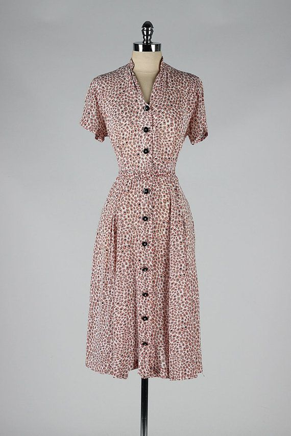 Image Result For 1940 Day Dresses Button Down